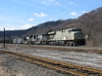 NS 7528, 2618 & 8949 leading eastbound coal loads